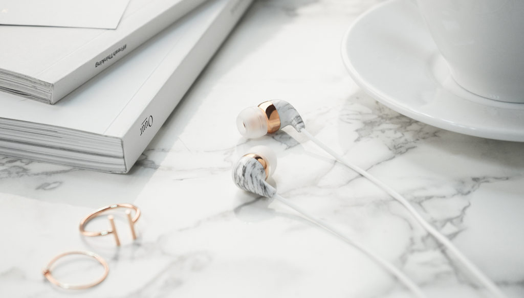 Marble earbuds by Casetify