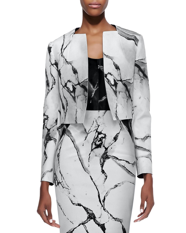 Marble print jacket by Robert Rodriguez