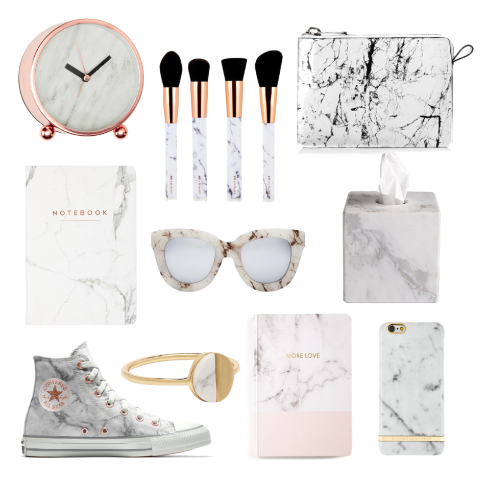 Carrara white marble texture trend