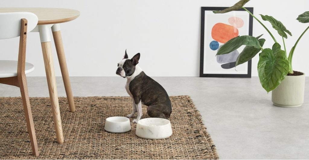 Archie marble Pet Bowl by Made.com