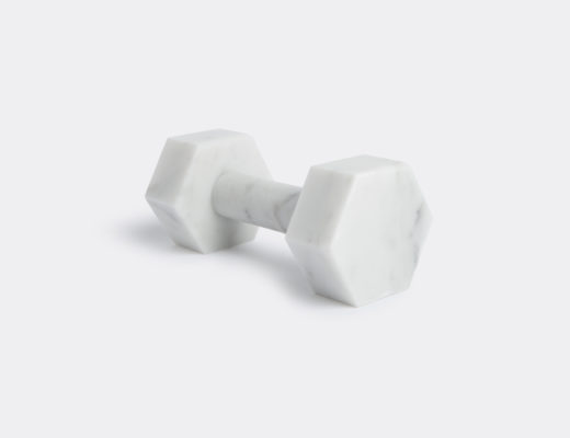 Carrara marble dumbbells by Addition Studio