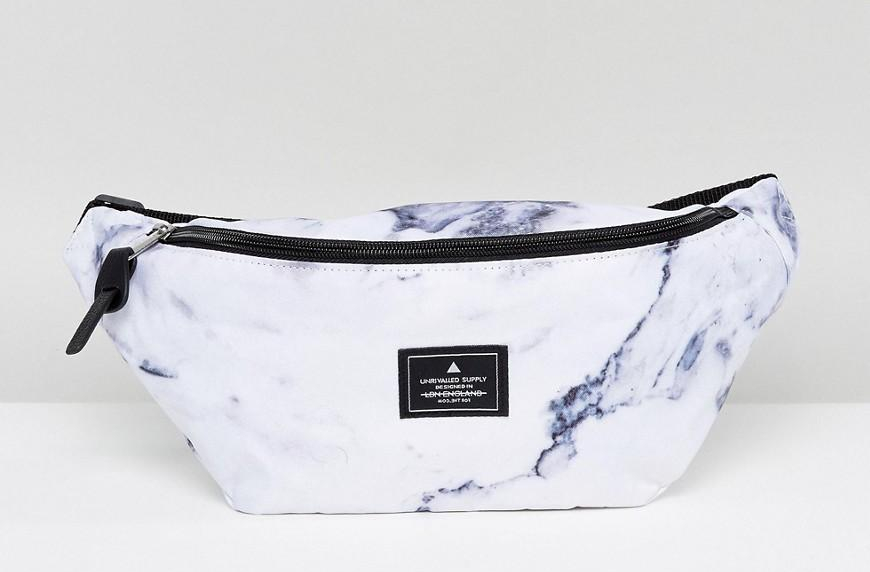 asos marble fanny pack