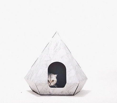 fMarble print diamond cat house by Ruff and Fetch