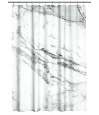 hm shower curtain marble