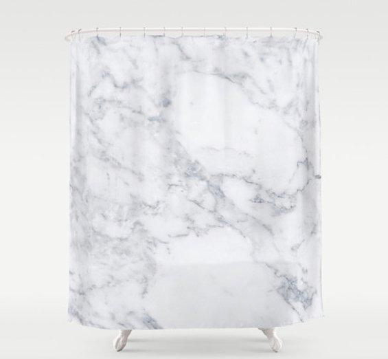 huntleigh marble shower curtain