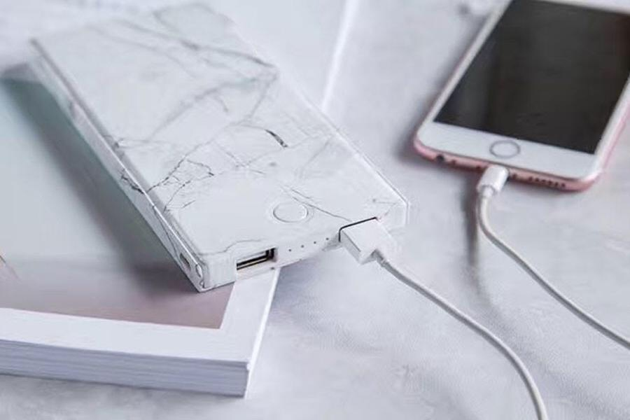 Urban Outfitters marble portable power charger