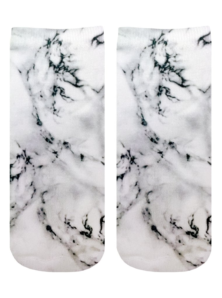 Marble grey ankle socks by Living Royal