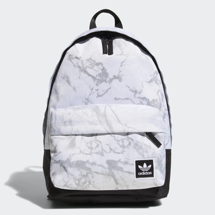Adidas white Marble Backpack