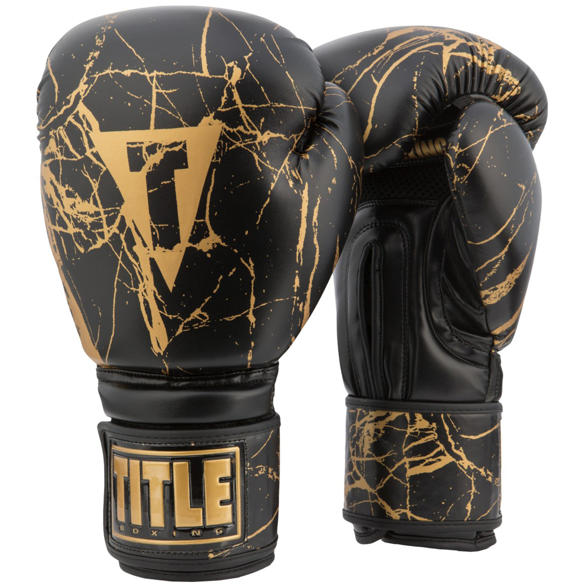 Title Boxing Marble Bag Boxing Gloves 2.0 White/Gold