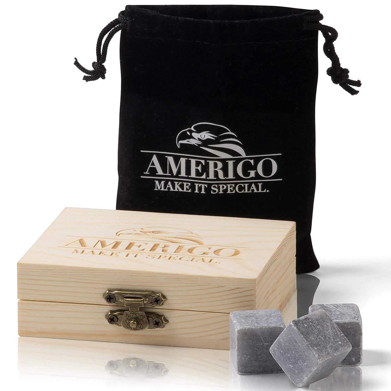 Whisky stones set by Amerigo - soapstone