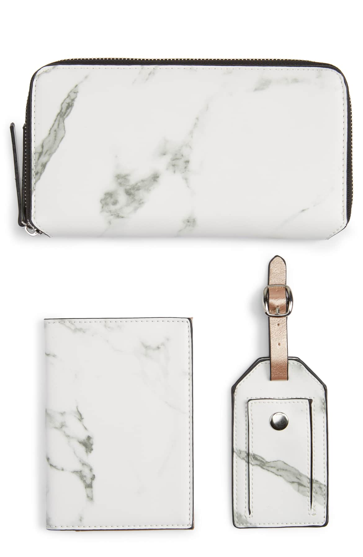 Marbled Travel Wallet Set by VIOLET RAY NEW YORK