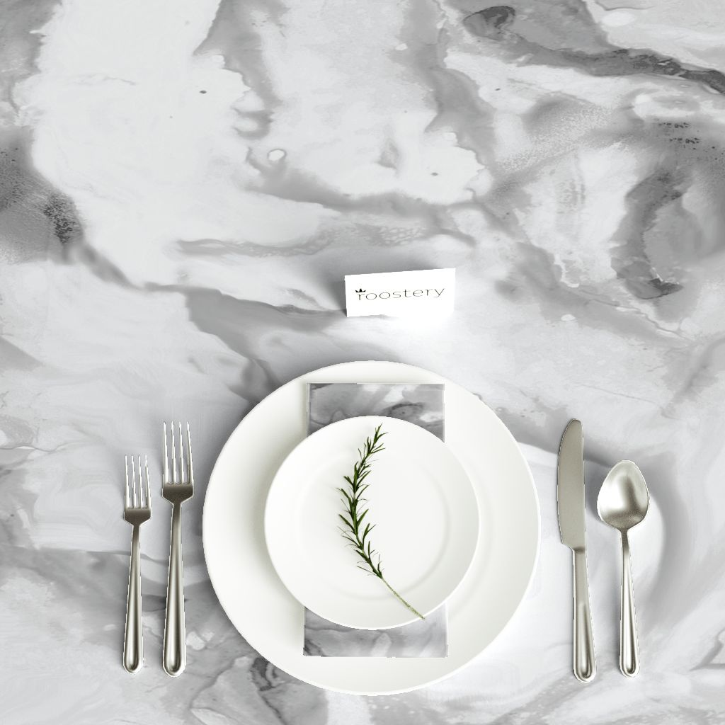 Marble tablecloth by Willow lane textiles