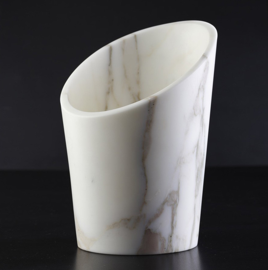 Marble champagne bucket by Stone Lab Design