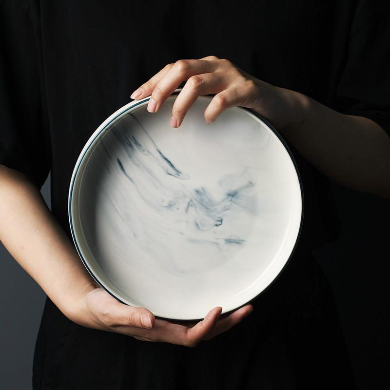 Ela marble Plate by Singular