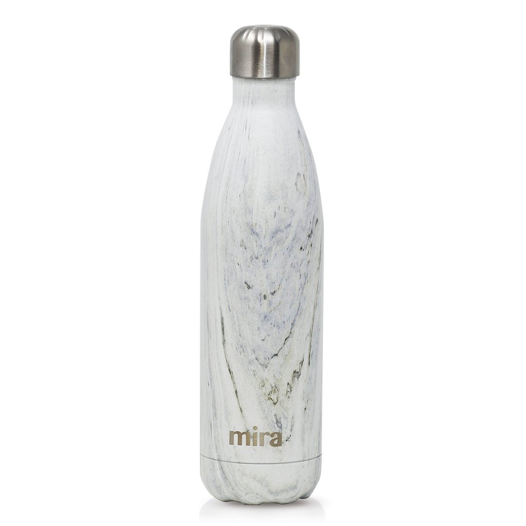 Cascade Water Bottle in White Granite by Mira