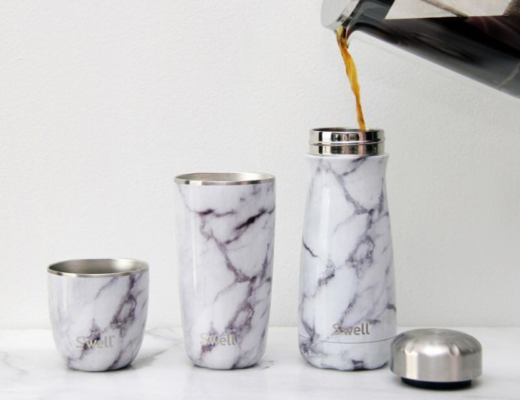 White marble traveller bottle by S'well