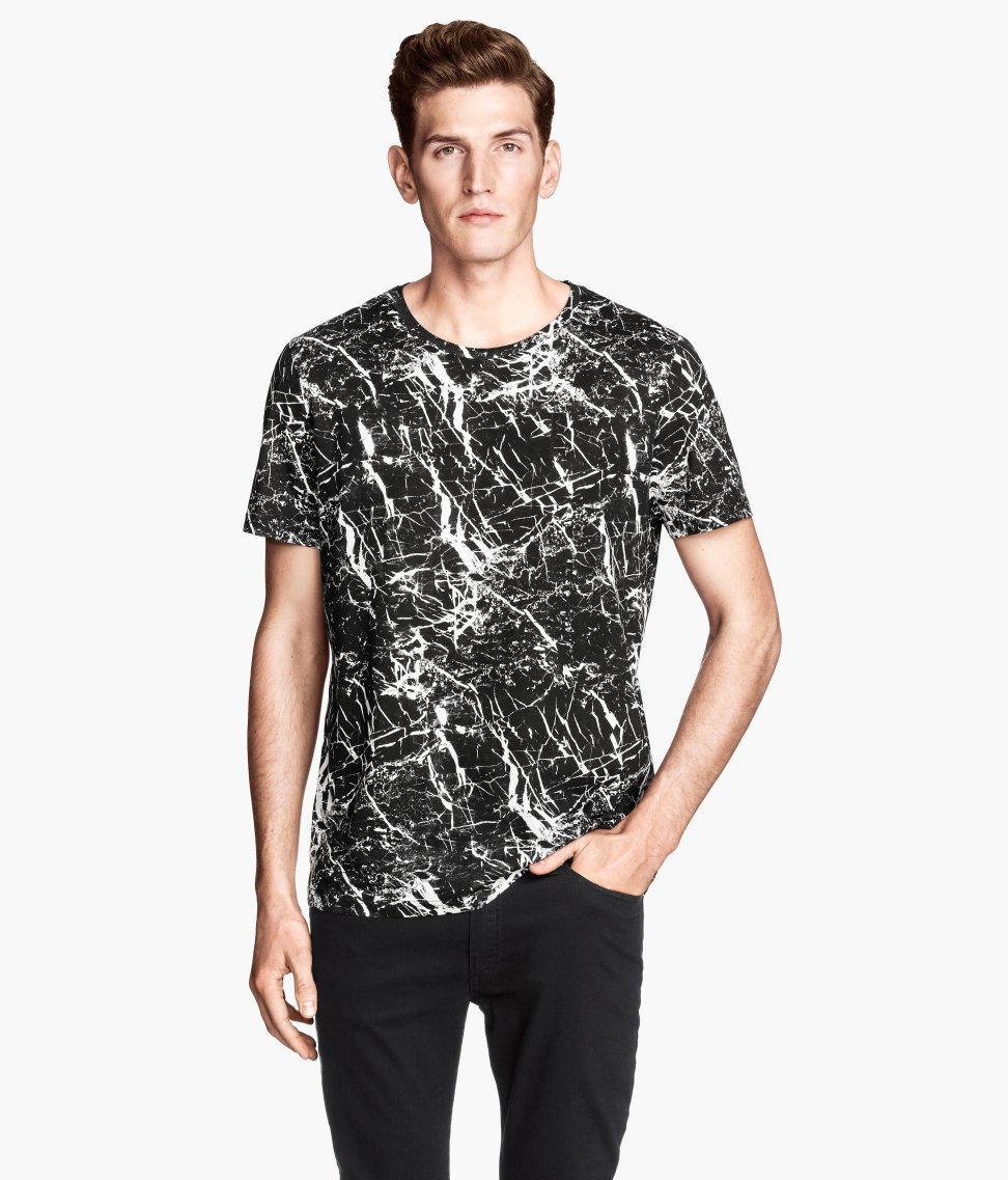 H&M marble print t-shirt
