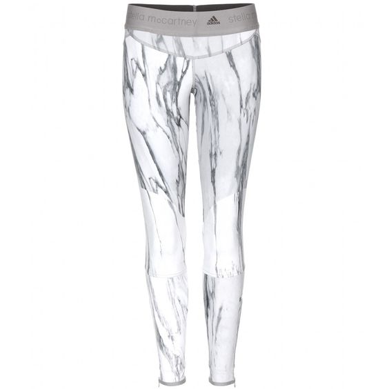 Carrara marble leggings by ADIDAS by Stella McCartney