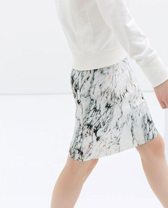 Marble print skirt by Zara - 2014