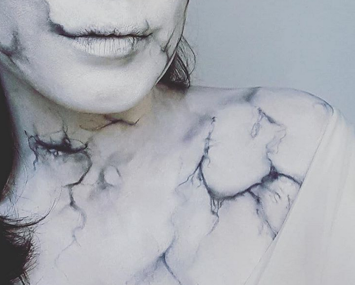 Marble make up by Antonella Bardot (source: @antonnellabardot instagram)