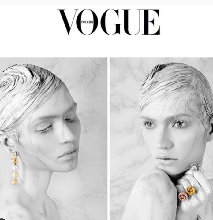 This one even got to VOGUE RUSSIA cover ! Make up by Lan Nguyen-Grealis (source: @lanslondon instagram)