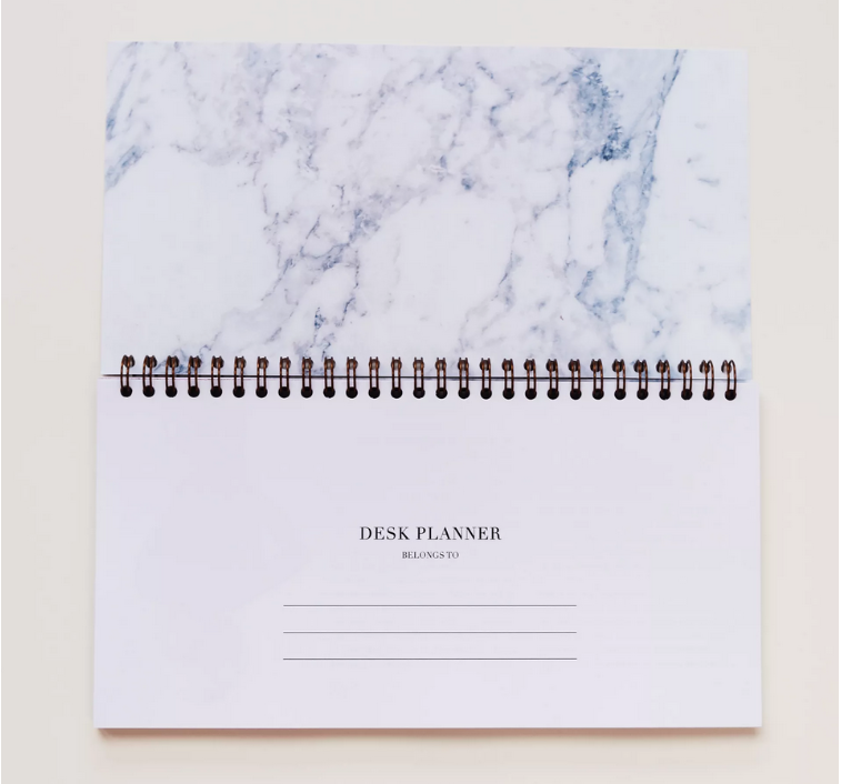 Carrara Marble Desk Planner by SuppliedbyLily