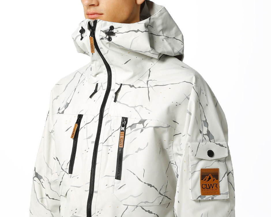 White marble Falk jacket by Wear Colour