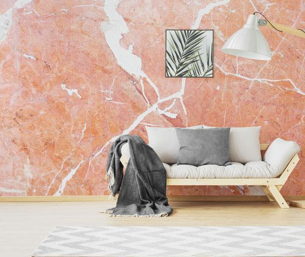 Coral Marble Texture Wall Mural by Eazywallz eazywallz.com