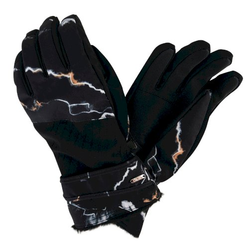 Adulation Luxe Ski Gloves in black marble print by Dare2b