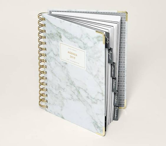 Carrara Marble effect daily planner by Stradivarius