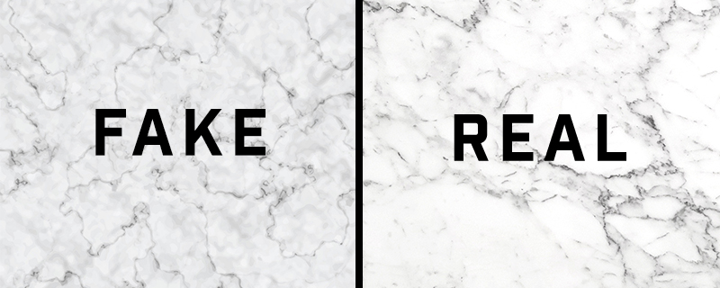 fake marble texture vs real marble picture