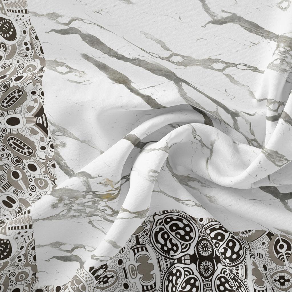 Everything Marble & Artistante - art on silk - emerged gardens