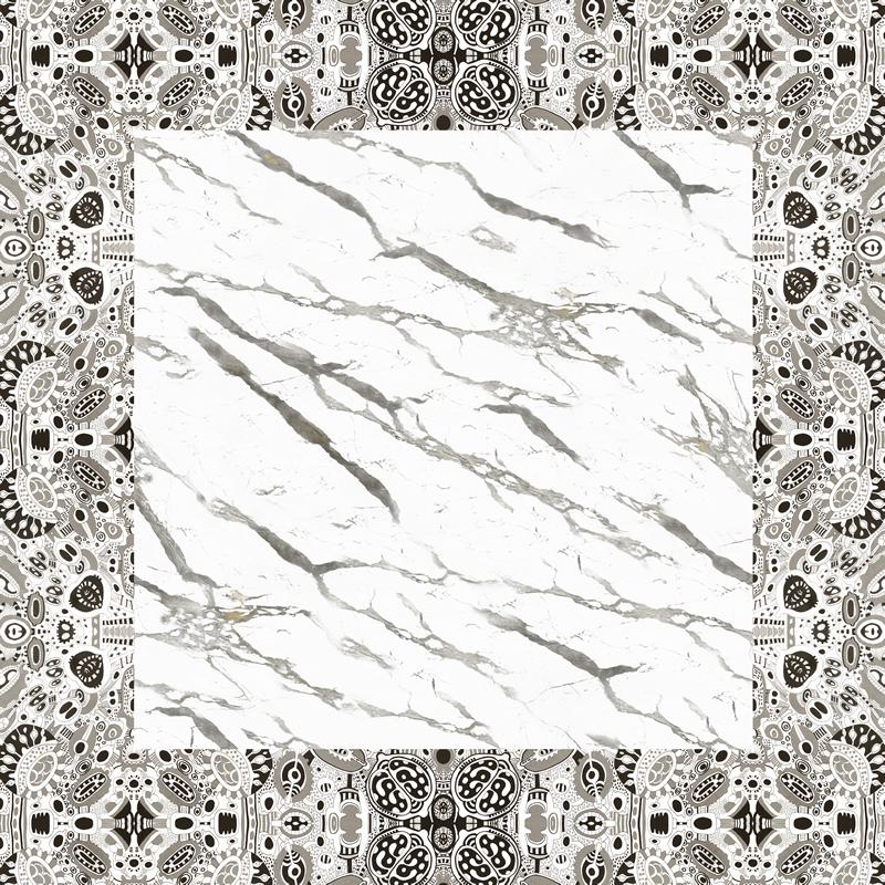 Emerged Garderns Collection - Statuario marble silk scarf by Artistante