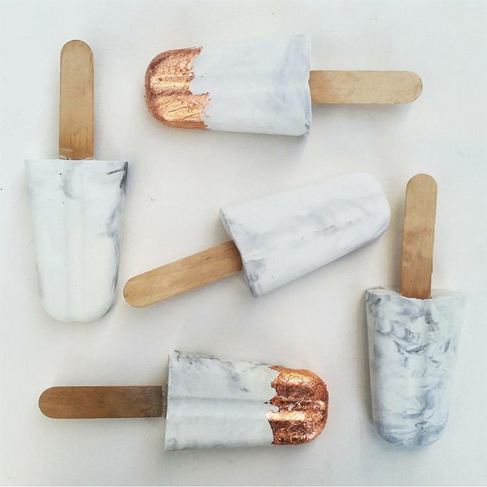 Marble ice cream - made of concrete - by Studio Shylo