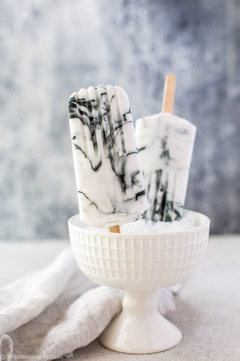 Marble ice cream popsicle by wholesome patisserie