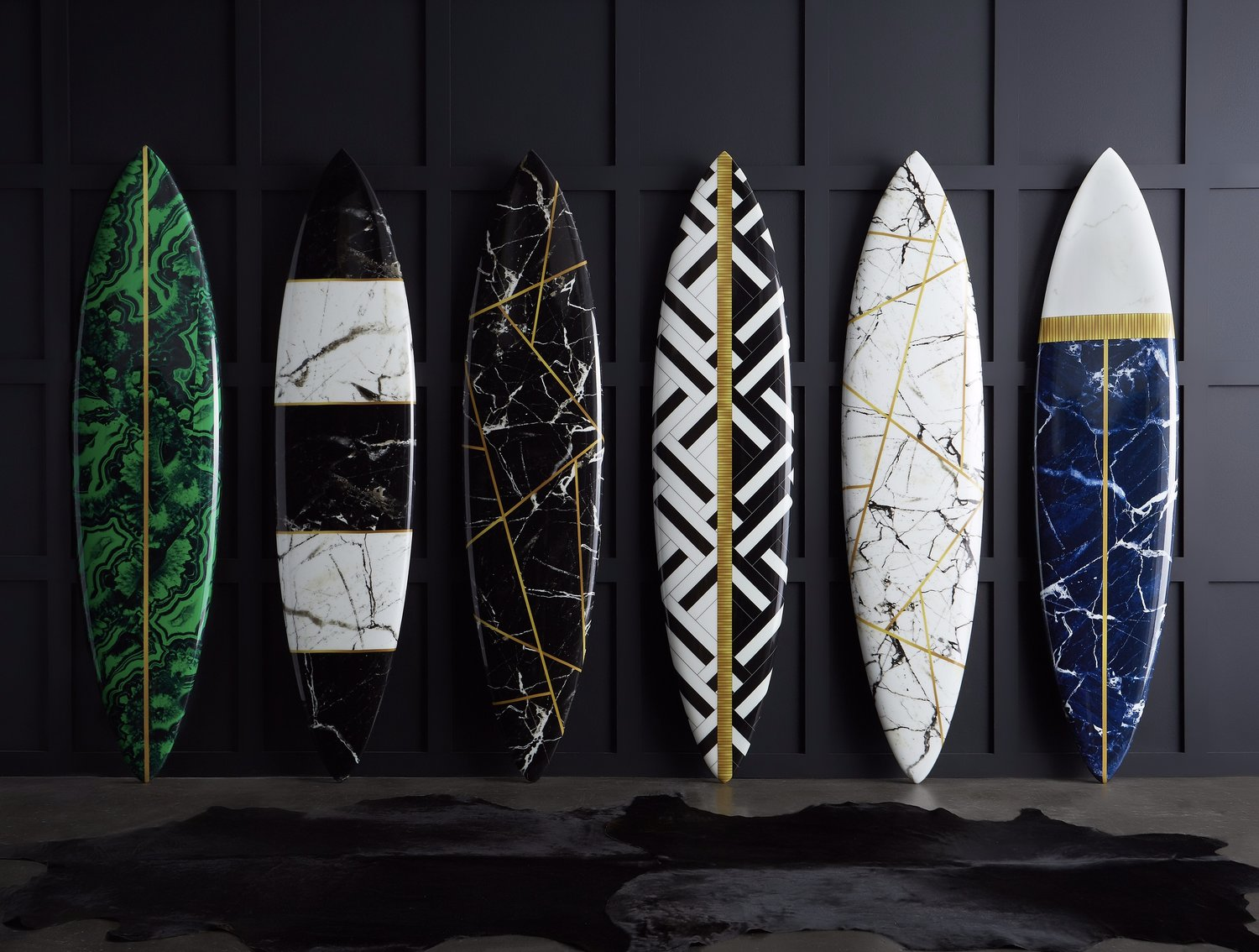 WAX surf custom surfboards in marble texture