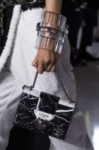 Balmain leather marble handbag - 2019