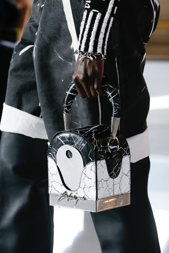 Balmain Marble Leather box Bag - summer 2019