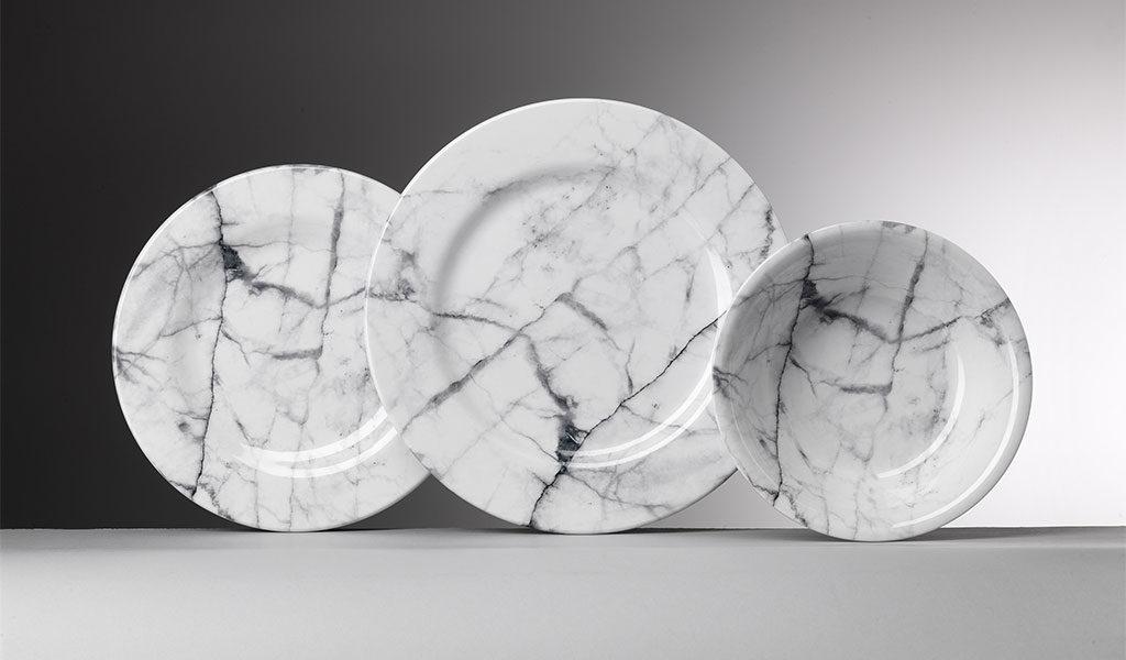 Carrara marble printed on melamin plates - Mario Luca Giusti