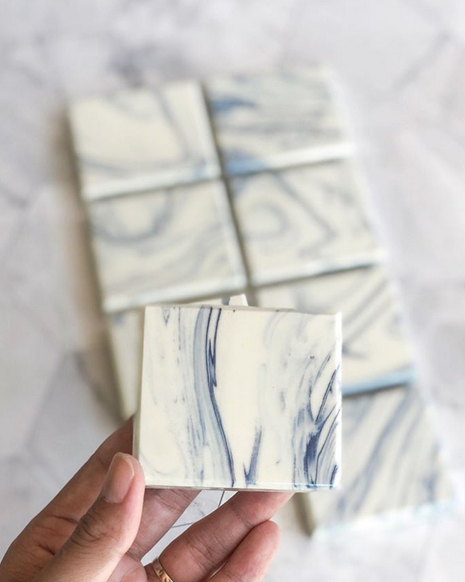 Marble effect soap bar by T & B soaphouse - Thailand