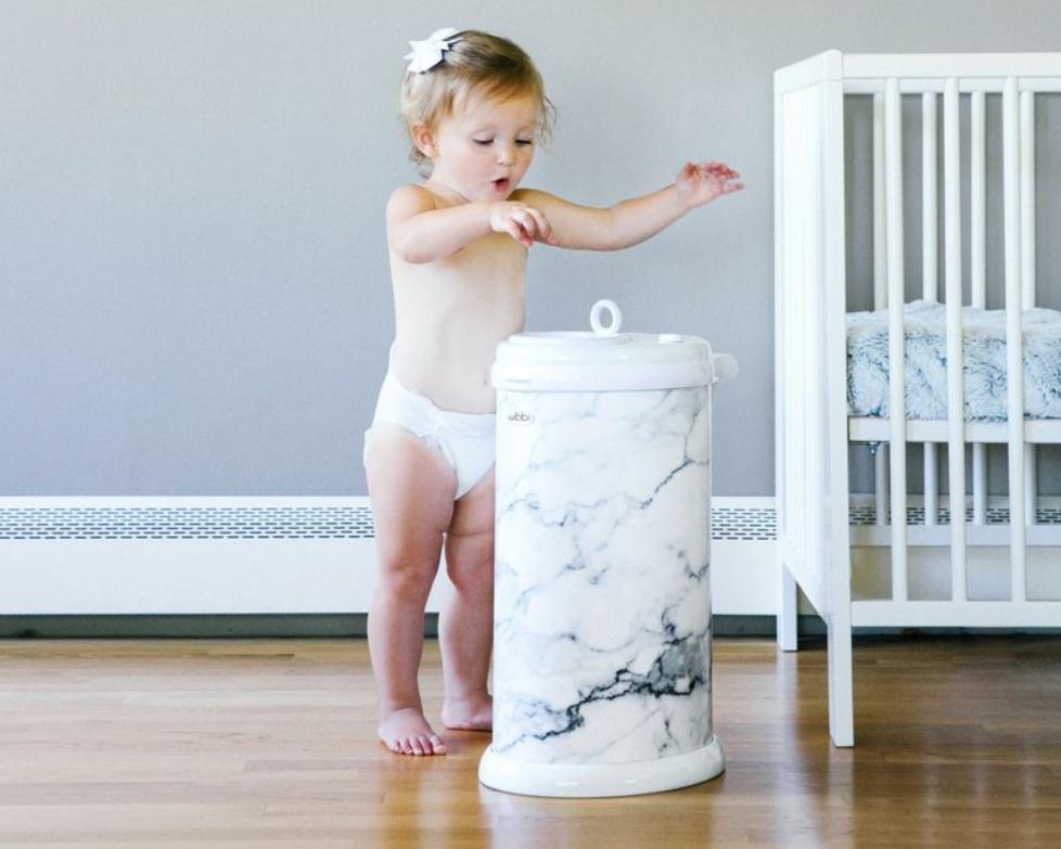 Marbled diaper bin by UBBI