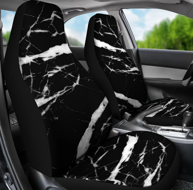 Marble print seat covers - by JorJune