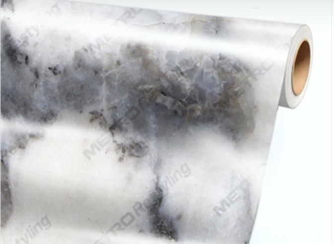 Carrara marble Car Wrap - 3M