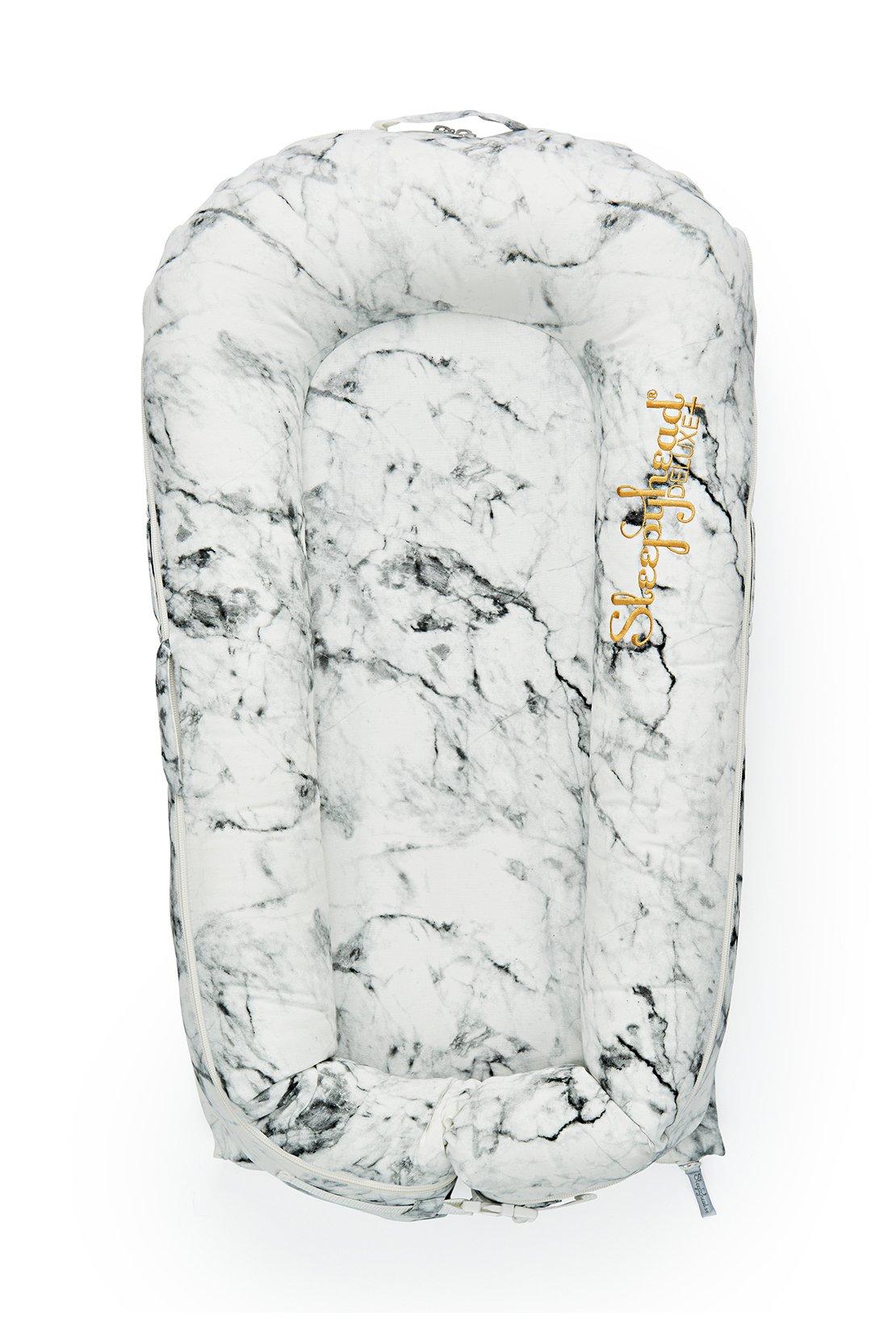 Sleepyhead baby dock in Carrara marble texture