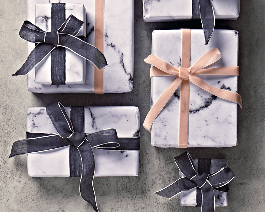 Carrara marble effect wrapping paper - carta regalo effetto marmo di Carrara